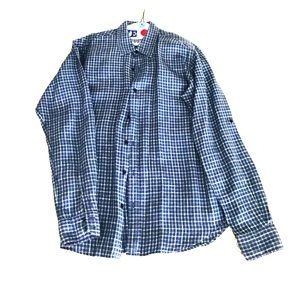 Linen Saks Fifth Avenue button down shirt